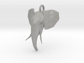 Elephant Head in Aluminum