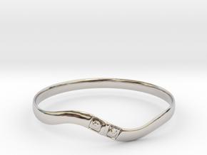 Torsion ring type2(Japan 10,USA 5.5,Britain K)  in Rhodium Plated Brass