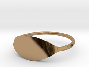 Eye Ring Size 11 in Polished Brass