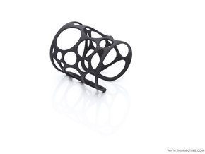 Voronoi bracelet (SMALL) in Black Natural Versatile Plastic