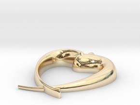 Corazon Dos Piezas E in 14k Gold Plated Brass