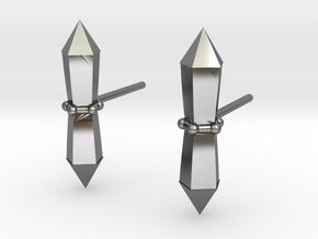 Tribalcelt-studs in Fine Detail Polished Silver