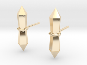 Tribalcelt-studs in 14k Gold Plated Brass