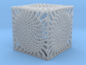 Voronoi cube lampshade ~ 100mm tall in Smooth Fine Detail Plastic