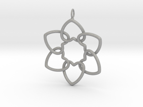 Heart Petals 6 Points - 5cm - wLoopet in Aluminum