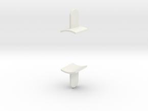 Ahsoka Tano Lightsaber - Fins in White Natural Versatile Plastic