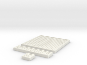 SciFi Tile 05 - Diamond Plate in White Natural Versatile Plastic