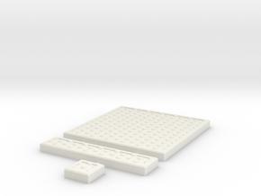 SciFi Tile 09 - Hex Plate in White Natural Versatile Plastic