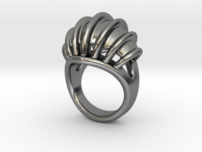 Ring New Way 24 - Italian Size 24 in Fine Detail Polished Silver