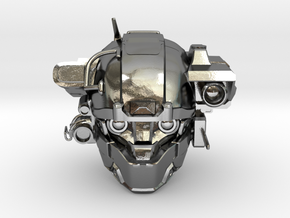 Halo 5 Argus/linda 1/6 scale helmet in Polished Silver