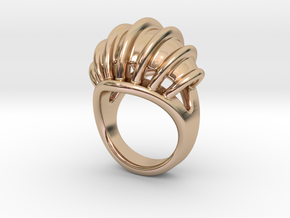 Ring New Way 25 - Italian Size 25 in 14k Rose Gold Plated Brass