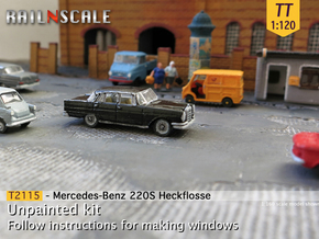 Mercedes-Benz 220S (TT 1:120) in Smooth Fine Detail Plastic