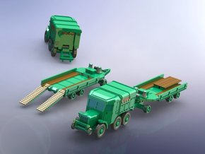 French Laffly S 35 T Tractor w. Tank-Trailer 1/285 in Smooth Fine Detail Plastic