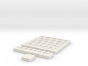 SciFi Tile 17 - Metal Grating in White Natural Versatile Plastic