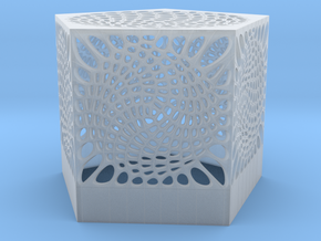 Voronoi penta lampshade ~145mm tall in Smooth Fine Detail Plastic