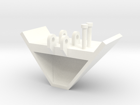 1/64 V Bucket in White Processed Versatile Plastic
