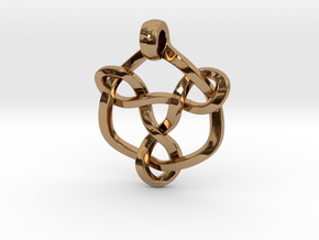 Celtic Knot Pendant 01 in Polished Brass