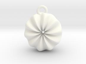 Warp Ring Pendant in White Processed Versatile Plastic
