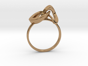 Infinite Ring in Polished Brass