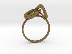 Infinite Ring in Polished Bronze