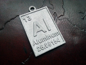 Aluminum Periodic Table Pendant in Raw Aluminum
