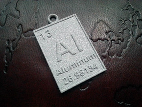 Aluminum Periodic Table Pendant in Gray PA12