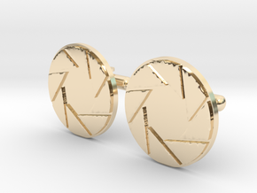 APETURE CUFF LINKS in 14k Gold Plated Brass