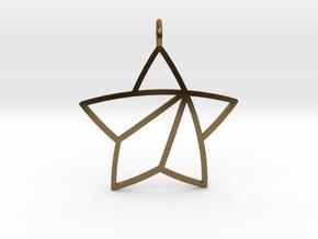 Achievement Star Pendant in Polished Bronze