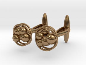 Bacteria Cufflinks - Plasticicumulans in Natural Brass