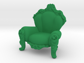 Arm Chair in Green Processed Versatile Plastic