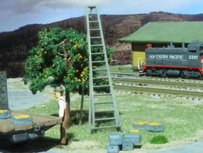 HO Scale, Four 15' Ladders in Smooth Fine Detail Plastic