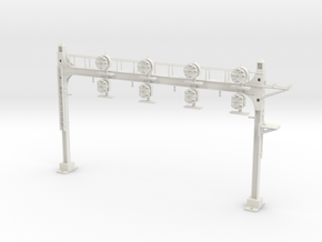 HO Scale PRR W-signal Beam 4 Track in White Natural Versatile Plastic