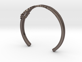 I Love You Sound Wave | Wrist Cuff in Stainless Steel: Medium