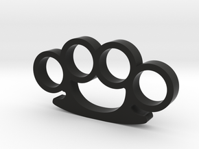Round Knuckle Duster Ornament in Black Natural Versatile Plastic