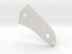LH Jaguar Lower Control Plate - Tele/Strat Bev in White Natural Versatile Plastic