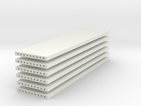 'N Scale' - (6) Precast Panel - 40'x10'x1' in White Strong & Flexible