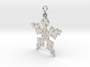 Julia Flake Pendant in Rhodium Plated Brass