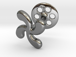 Cross Basque Cufflinks in Fine Detail Polished Silver