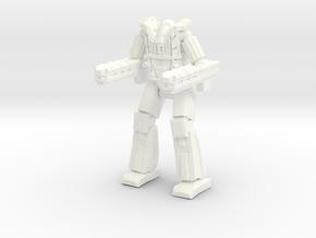 Scaramouche Pose 1 in White Processed Versatile Plastic