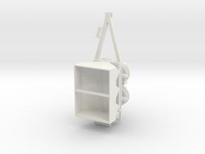 1/64 dry fertilizer Spreader  in White Strong & Flexible