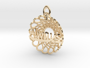 Always and Forever Pendant in 14k Gold Plated Brass