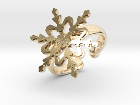 Snowflake Ring 2 d=16.5mm Adjustable h35d165a in 14K Yellow Gold
