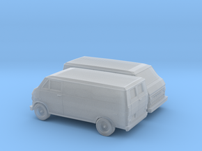 1/160 2X 1972-74 Ford Econoline Delivery Van in Smooth Fine Detail Plastic