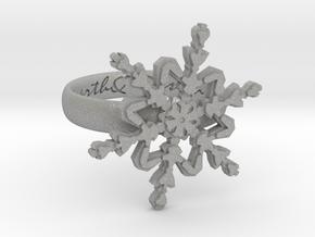 Snowflake Ring 2 d=16mm h35d16 in Aluminum