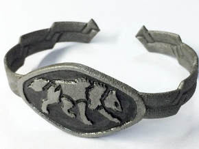 "2.5"" Wolf Bracelet in White Natural Versatile Plastic"