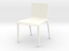 Plastic Stacking Chair 1-32 Scale in White Processed Versatile Plastic