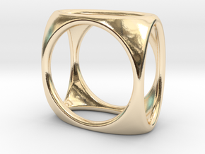 Square Ring model A - size 10 in 14K Yellow Gold