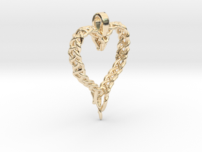 Celtic Unraveled Heart  in 14K Yellow Gold