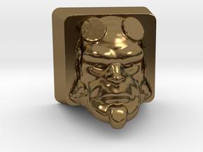 Cherry MX HellBoy Head Keycap in Polished Bronze