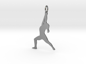Yoga Girl in Fine Detail Polished Silver